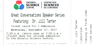 OSC ticket stub for the Tarter talk