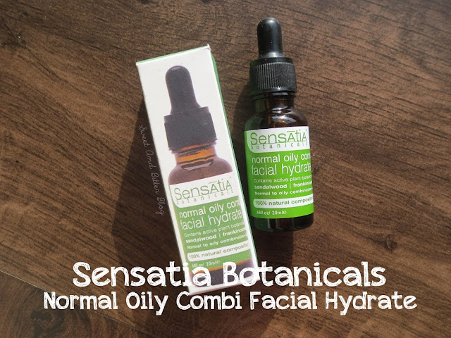Sensatia Botanicals Normal Oily Combination Facial Hydrate Review