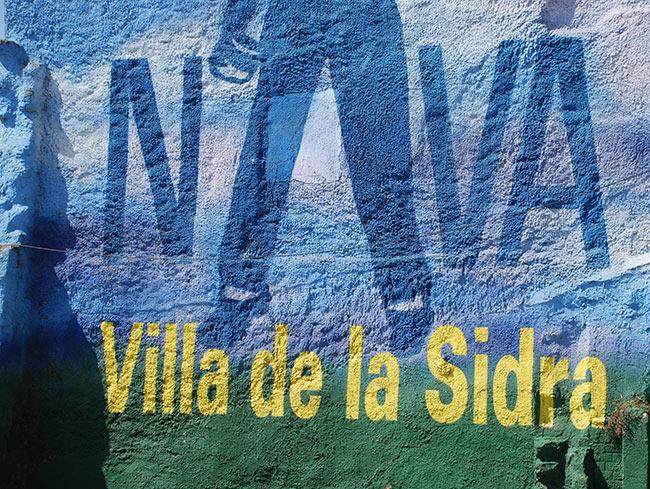 Mural en Nava, Villa de la sidra asturiana