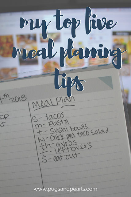 My Top 5 Meal Planning Tips :: Plus a sample meal plan!