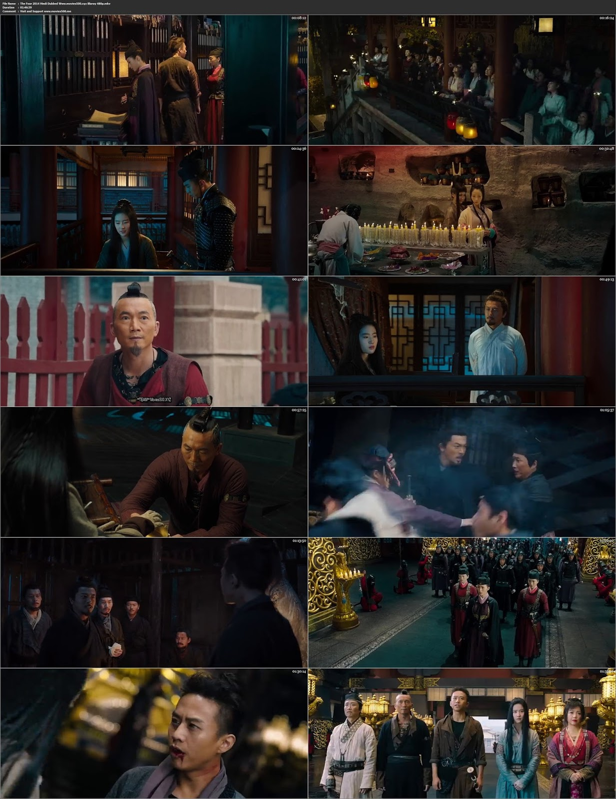 The Four 3 2014 In Hindi 300MB BluRay 480p ESUbs at movies500.info
