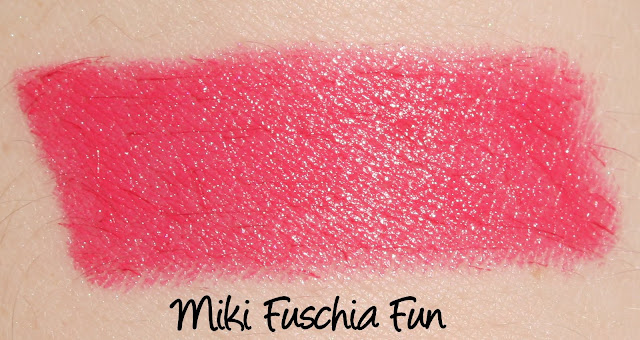 Miki Fuschia Fun lipstick swatch