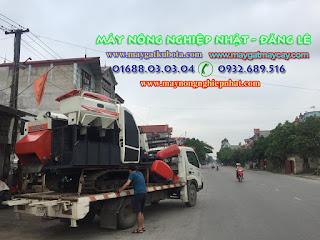 Bán máy gặt Kubota DC 70 Thái Lan đi Mỹ Lộc Nam Định cho bà con