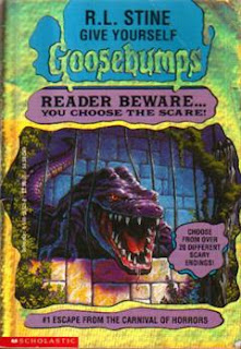book cover of Goosebumps Escape from the Carnival Of horrors