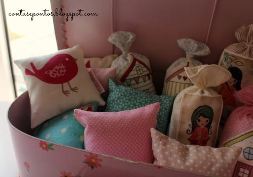Sacos e almofadas de alfazema