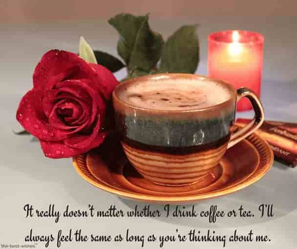 flirty good morning texts for her with candles and rose