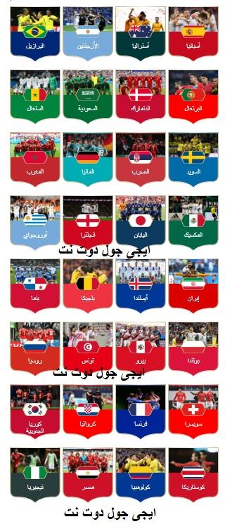 جدول ترتيب منتخبات كأس العالم 2018, نتائج الفرق المراكز والنقاط والهدافين fifa-world-cup
