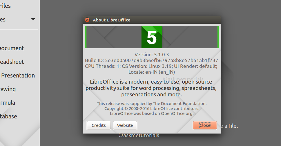 libreoffice 5.1.0
