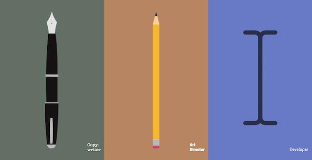 diferencia entre redactores, directores de arte y desarrolladores