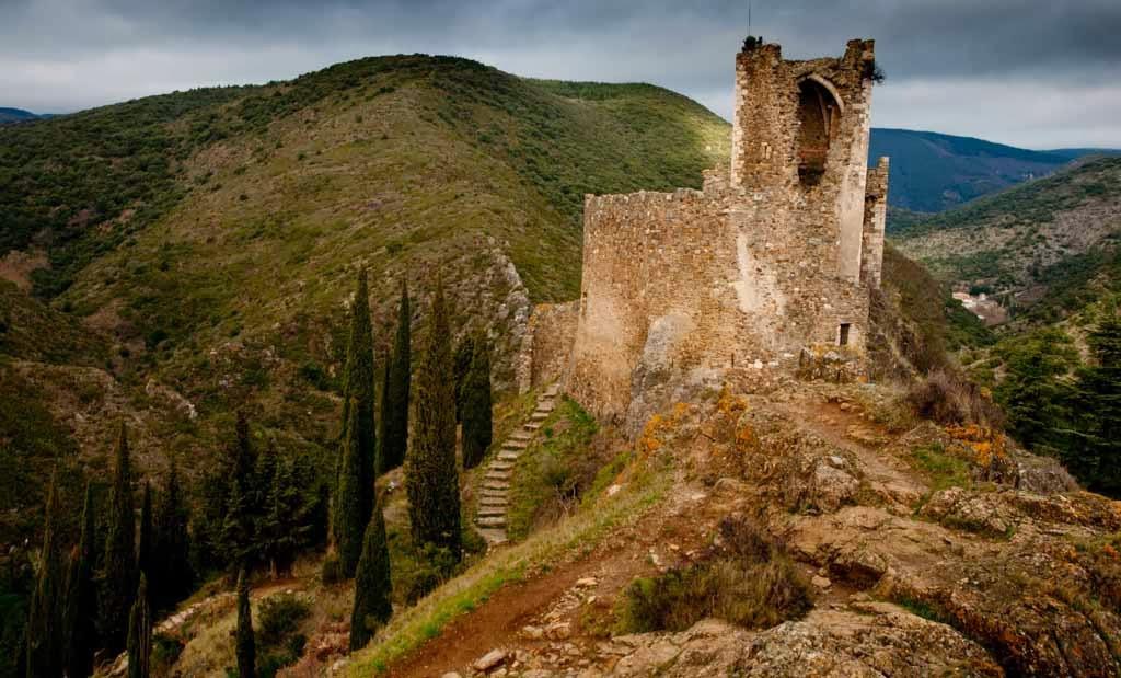 Panorámica Los castillos de Lastours