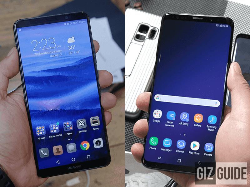 Huawei mate 10 pro kaina vs samsung s9 plius