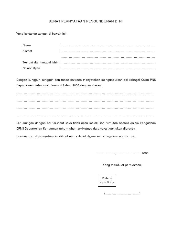 Contoh Surat Keterangan Lapor Diri Contoh Surat