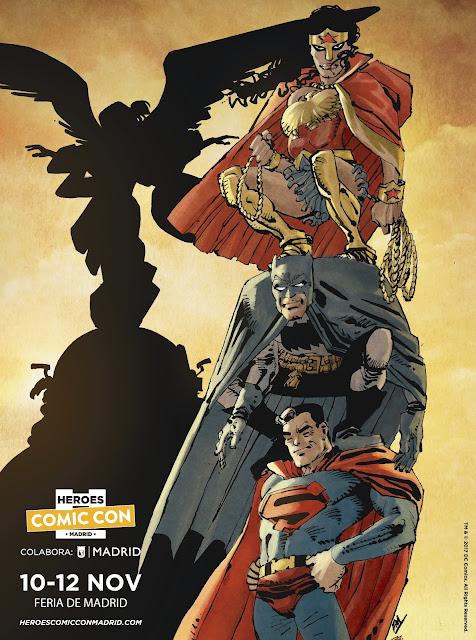 """""""Héroes Comic Con Madrid"""" desvela su cartel realizado por Frank Miller."""