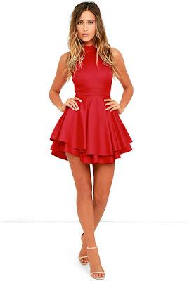 Vestidos de temporada Rojos