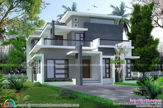 2238 sq-ft modern contemporary house in Kerala