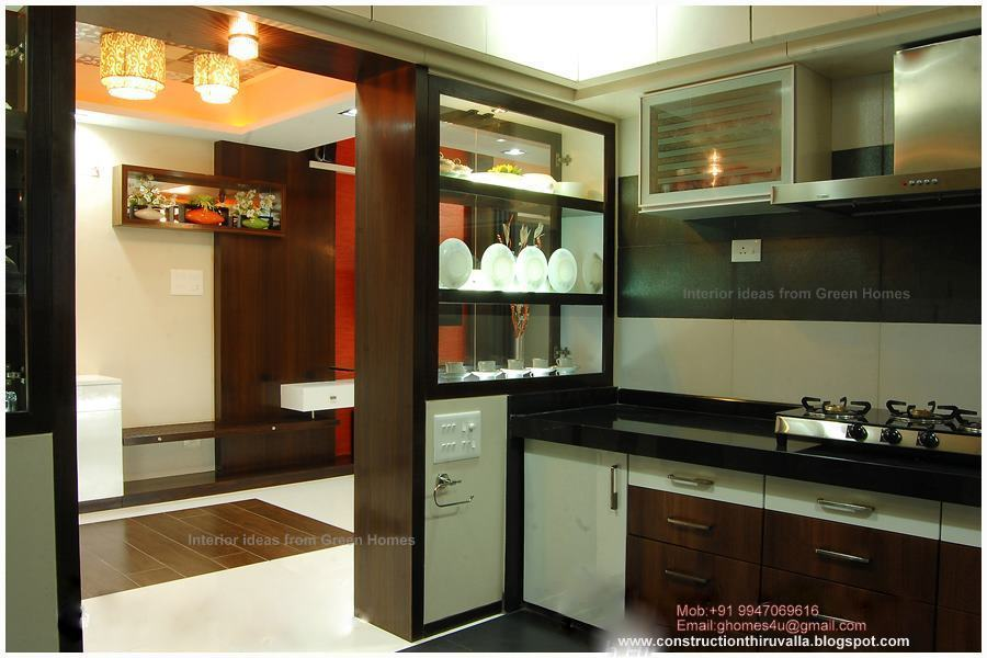 Green homes modern kitchen interior design for New kitchen designs in kerala
