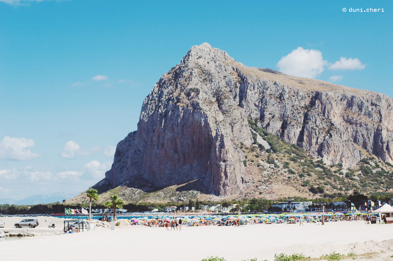 san vito lo capo sizilien berg strand