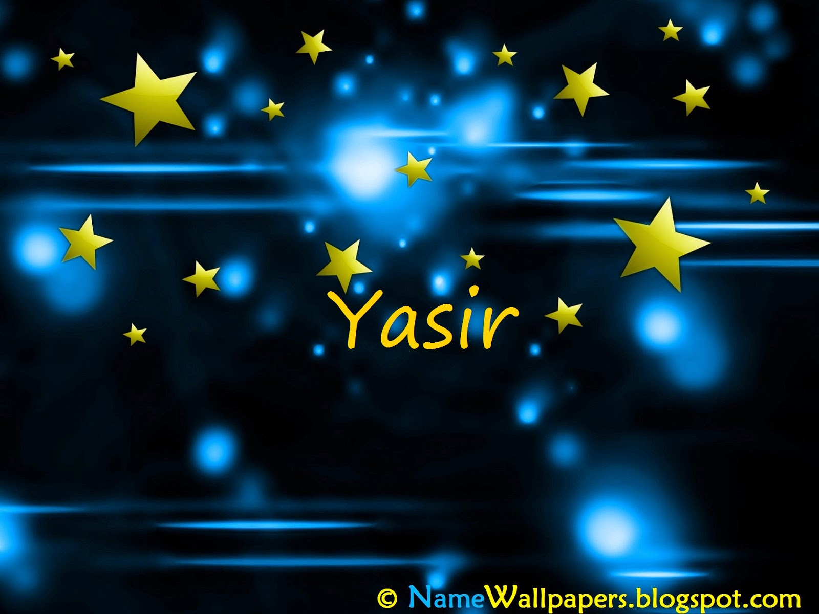 3d Name Yasir Wallpapers Czarny Mazak