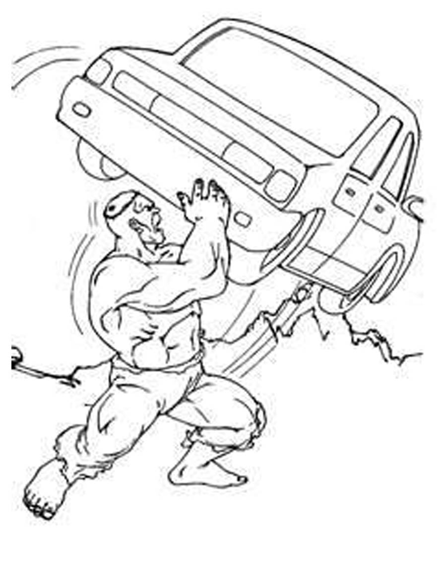 hulk coloring pages - photo #49