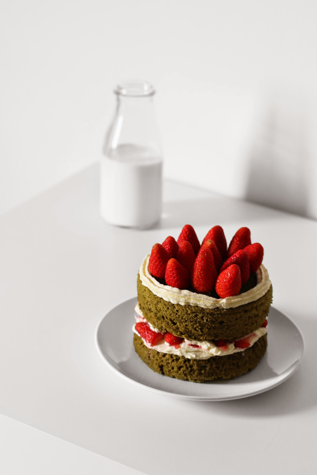 hydnchn matcha strawberry cake. Black Bedroom Furniture Sets. Home Design Ideas