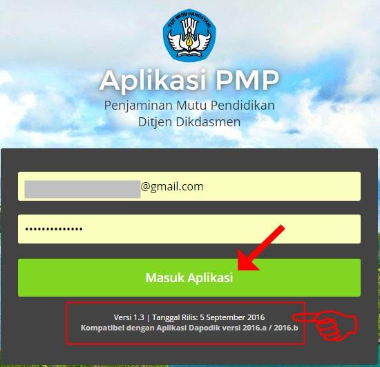 Login Aplikasi PMP