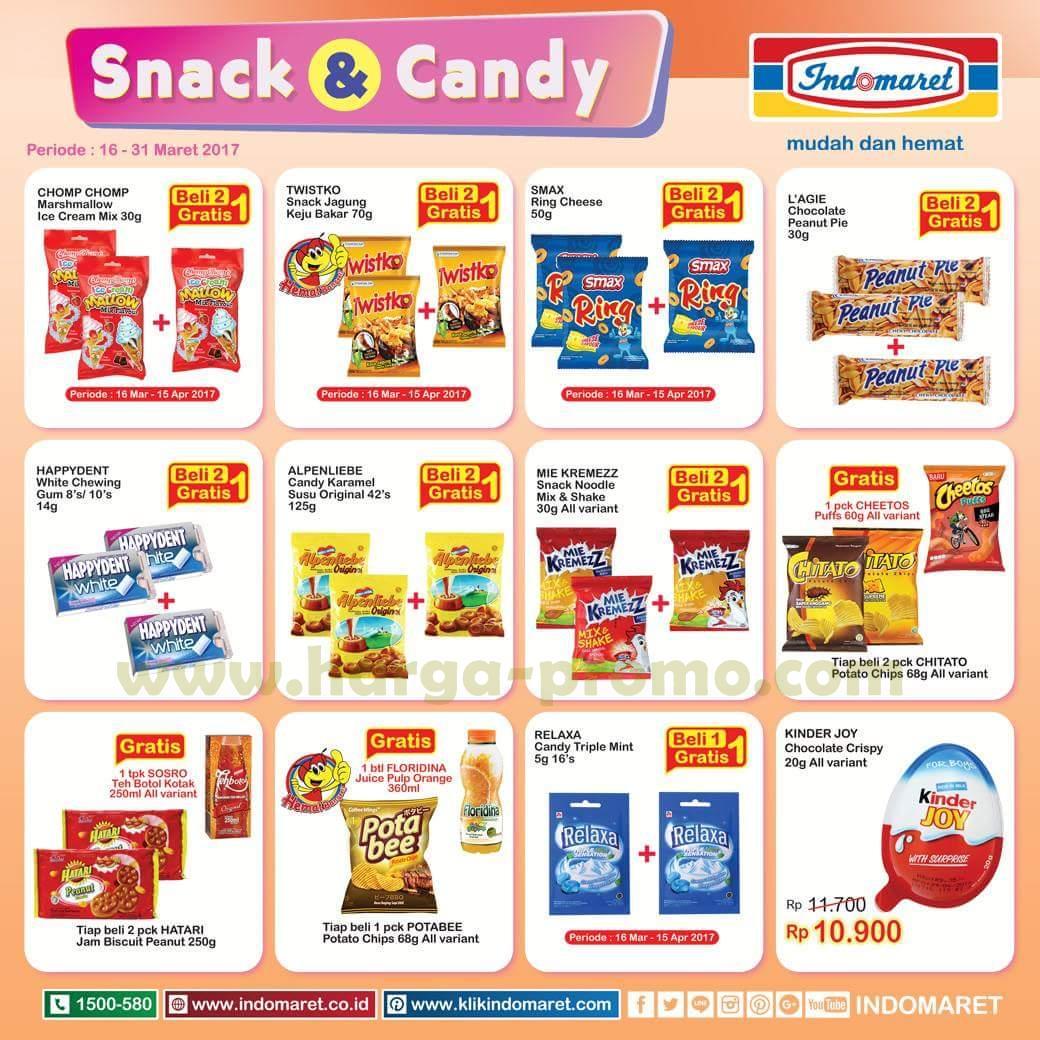 Katalog Promo Indomaret Snack Candies Beli 2 Gratis 1 Periode 16