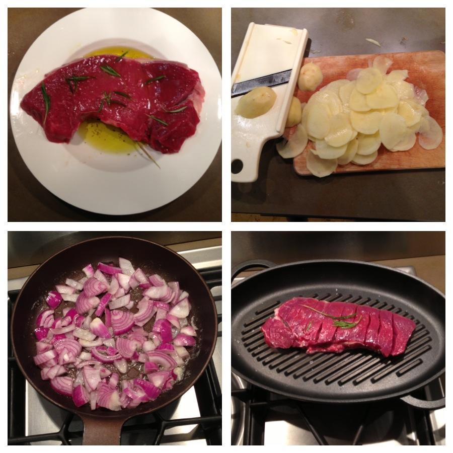 Il pasto in cucina tagliata di manzo alle cipolle for Cucinare tagliata
