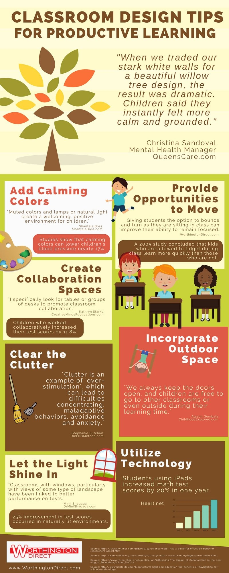 Classroom Design Tips for Productive Learning #Infographic