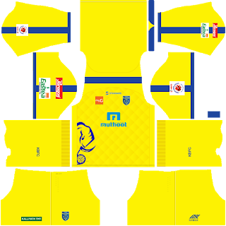 Kerala Blasters 2018/2019 DLS & FTS Kits and Logo - wid10 com|Dream
