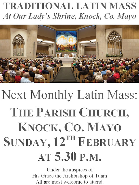 February 2017 Monthly Latin Mass in Knock