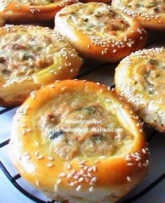 بريوش الأعشاش بالتونة والجبن