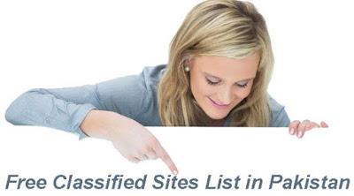 Pakistan Free Classified Sites List