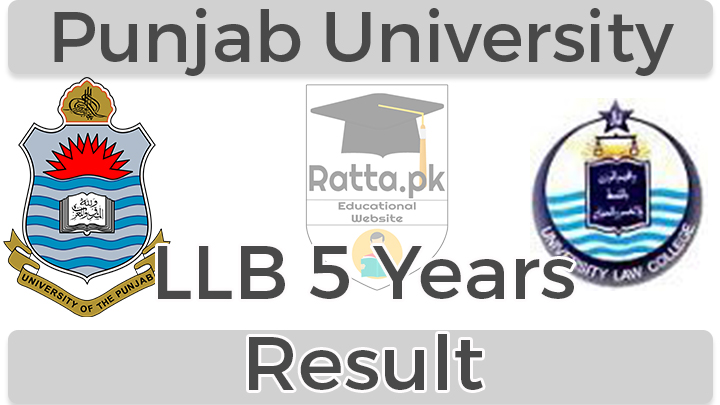 LLB 5 Years 1st Year Result 2017 Punjab University