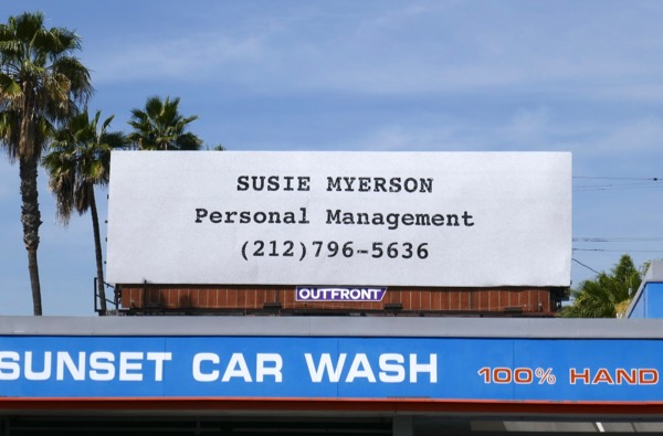 Susie Myerson Personal Management Tel no Mrs. Maisel Emmy FYC billboard