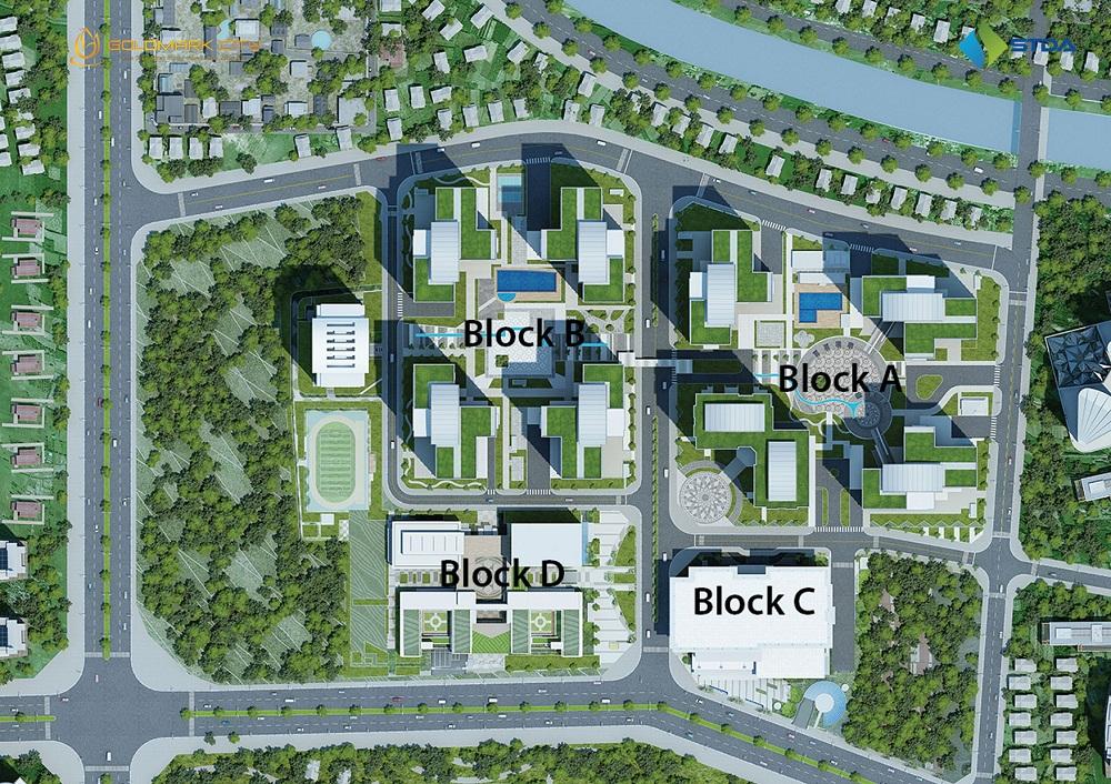 Các phối block của dự án chung cư Goldmark City 136 Hồ Tùng Mậu