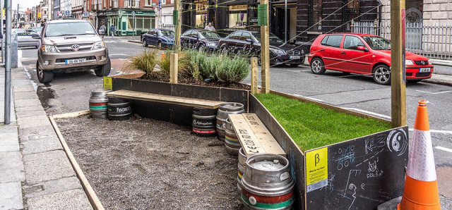 The first street parklet trial by Dublin City Council Beta, designed by David Andrews