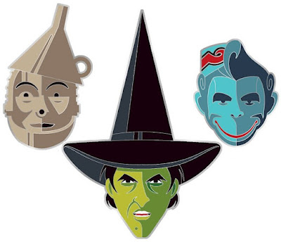 The Wizard of Oz Portrait Enamel Pin Series by Tom Whalen x Mondo