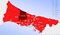 Arnavutköy ilçesinin nerede olduğunu gösteren harita