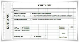 Download Kwitansi Pembayaran Tanda Terima Format Ms Word