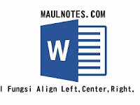 Mengenal Fungsi Align Left,Center,Right, & Justify
