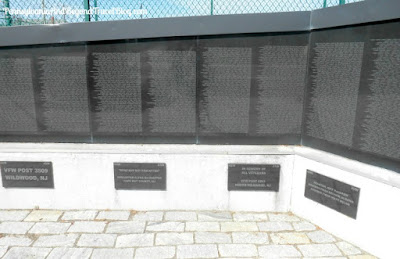 The Wildwoods Vietnam Memorial Wall in Wildwood New Jersey
