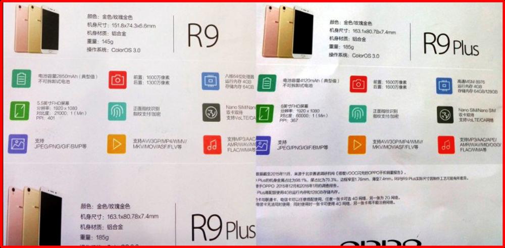 Oppo R9 dan R9 Plus - Informasi Spesifikasi dan Harga Terbaru 2016