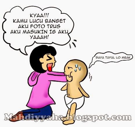 komik lucu , iyah ,mahdiyyah ,ilustrasi komik