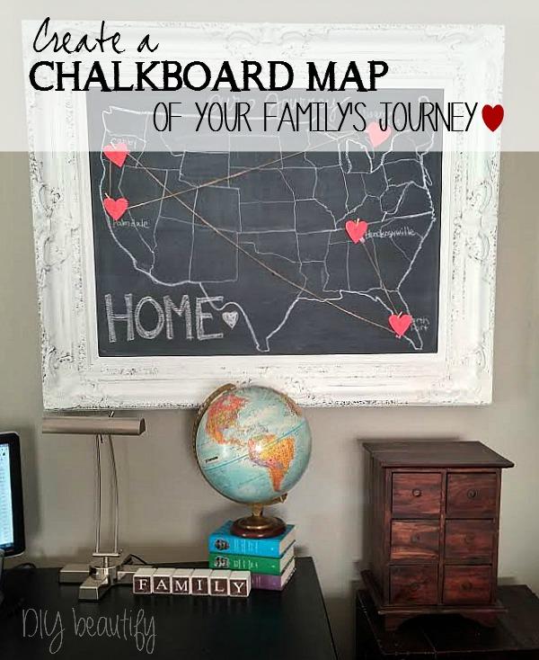 chalkboard map