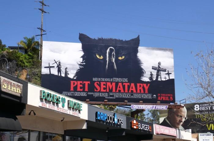 Pet Sematary cat cut-out billboard Sunset Strip