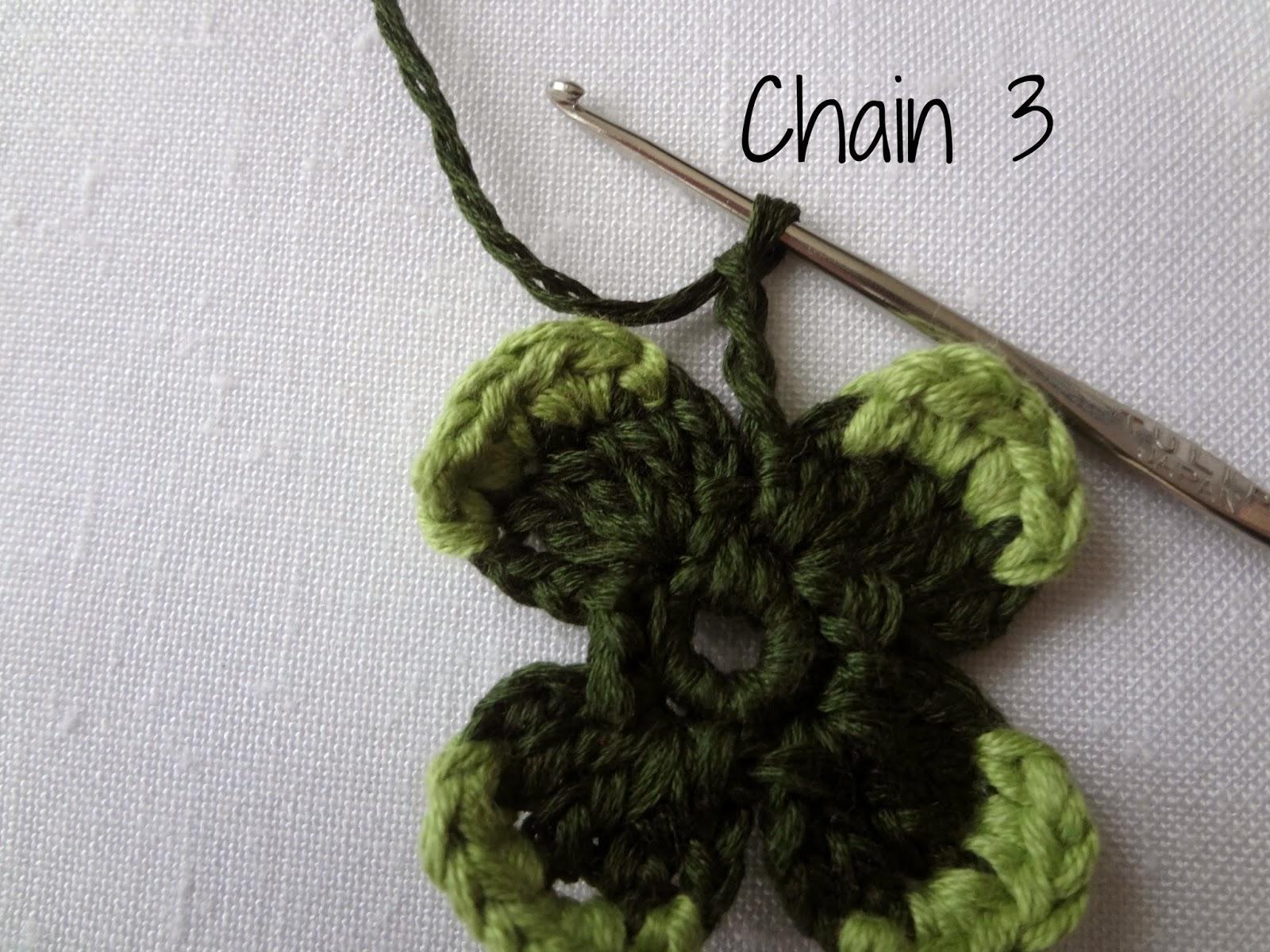 Crochet Stitch Exsc : first light green stitch, then make 4 exsc (extended single crochet ...