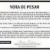 Prefeitura de Pilõezinhos: Nota de pesar.