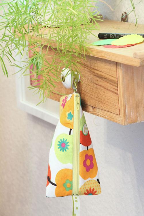 Annette Diepolder Atelierladen Nähen Mäppchen Reissverschluss Apfelstoff