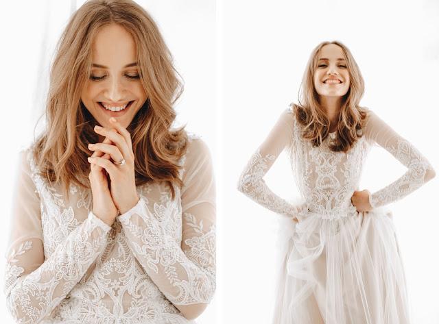 Ten uśmiech na twarzy gdy znajdziesz tę jedyną suknie ślubną. Joanna Niemiec Atelier.