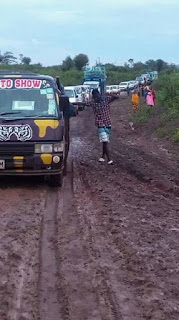 Kilifi-Bamba road is imapasable. PHOTO | Courtesy